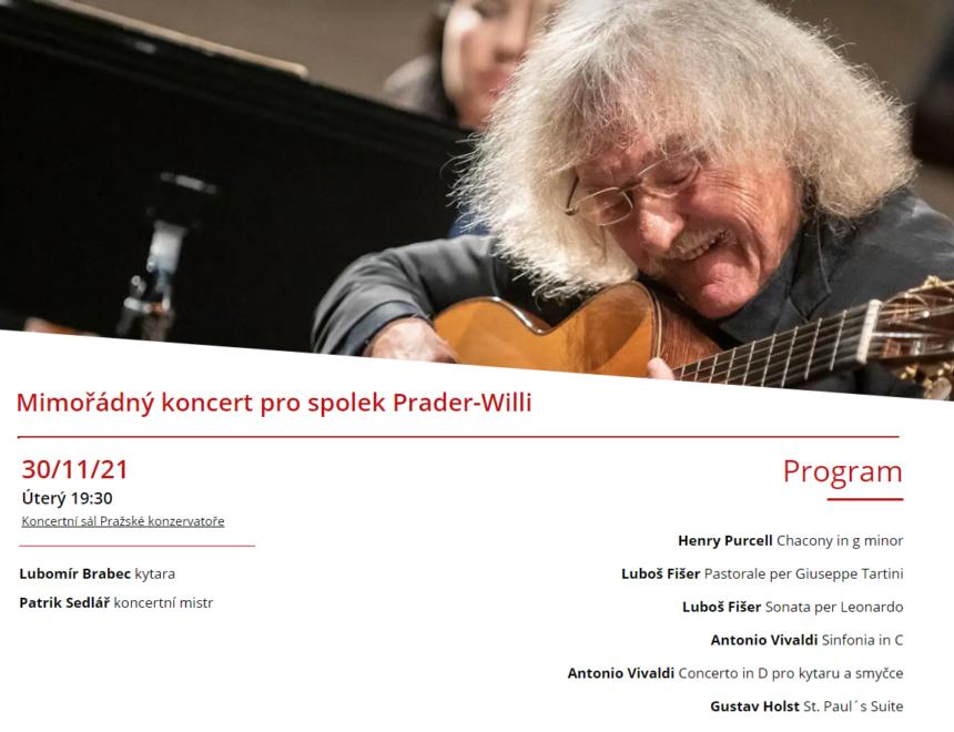 Benefiční koncert ve prospěch spolku Prader-Willi